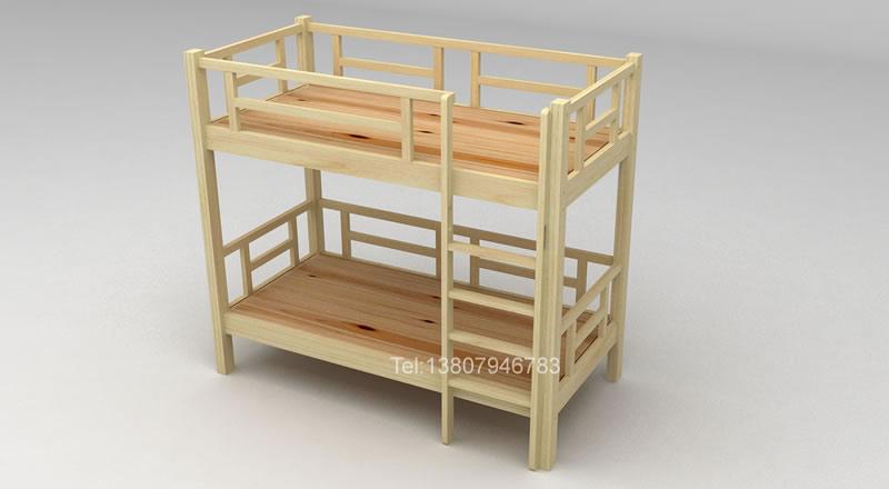 实木上下铺床